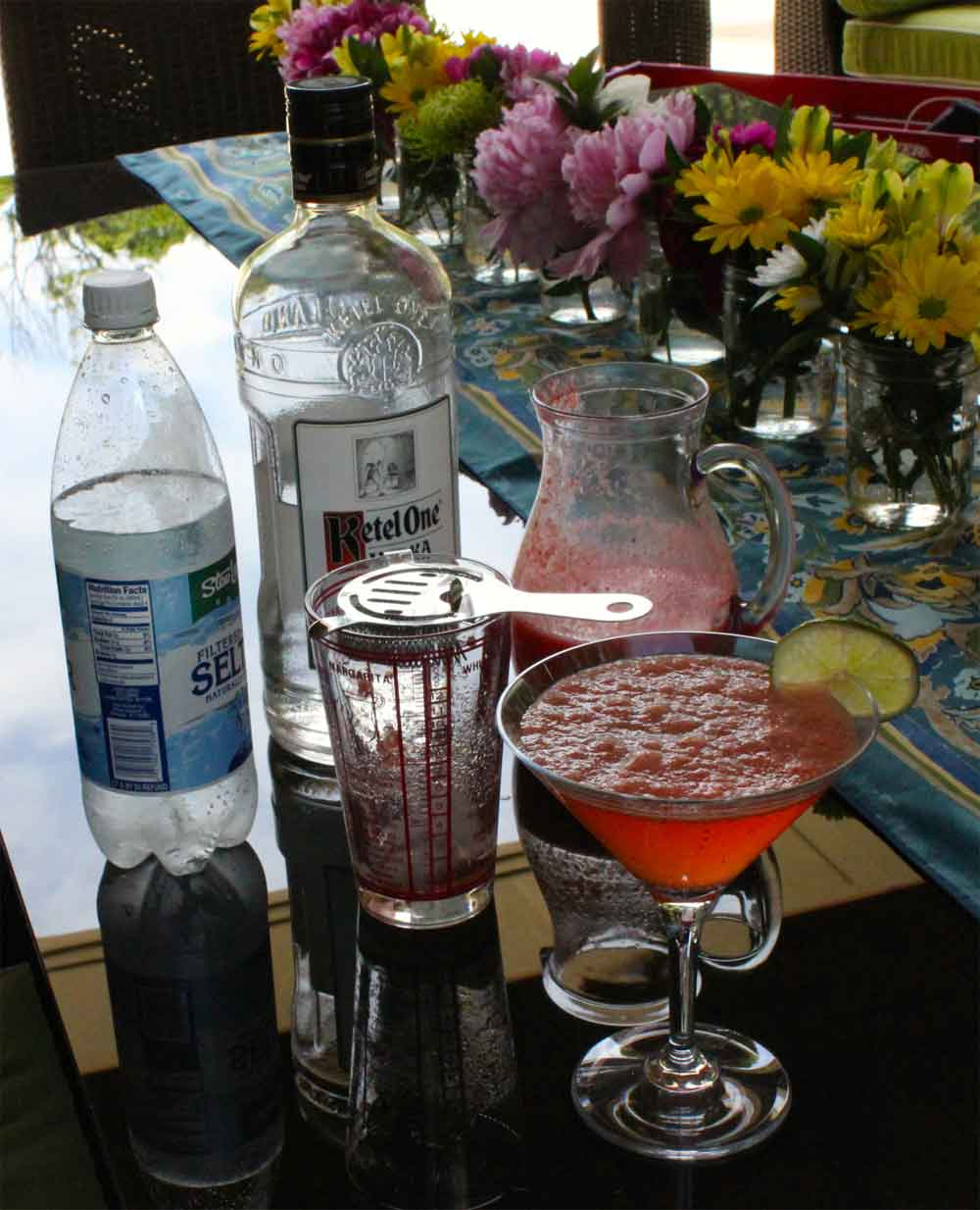 Strawberry Lime Vodka Martini Recipe