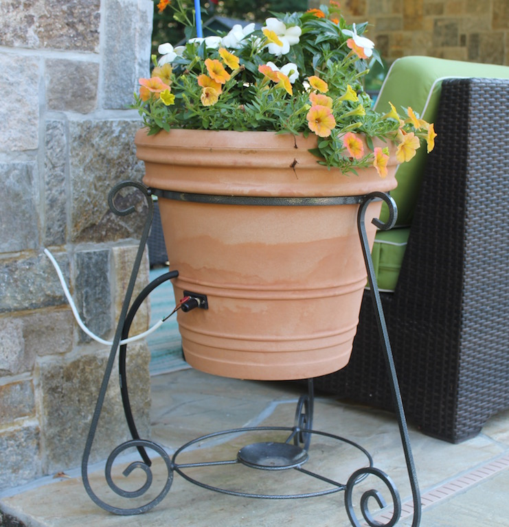 outdoor speakers/planters