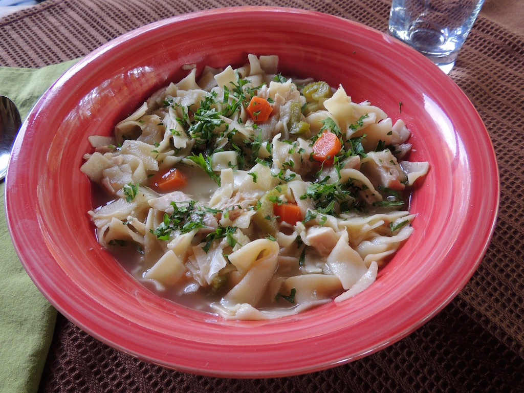Roasted Chicken Noodle Soup - Honeypie's Recipes