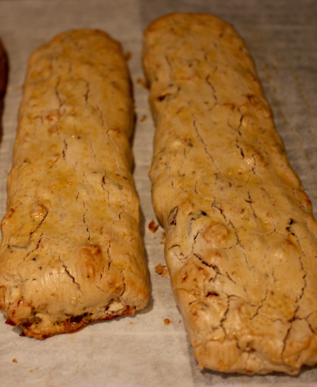 Apple Cranberry Walnut Gluten Free Biscotti
