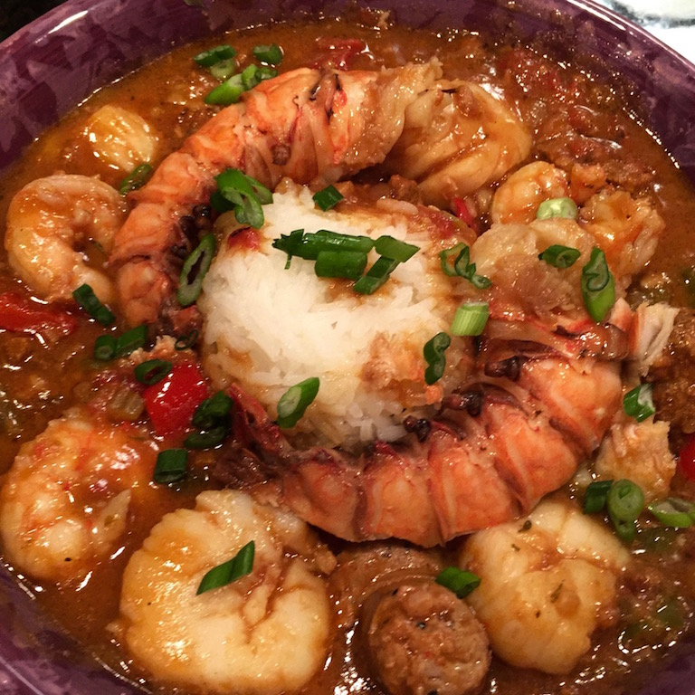 Shellfish and sausage gumbo honeypie 39 s recipes for Cook something different for dinner