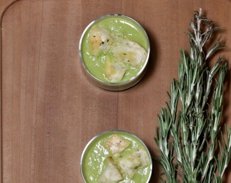 chilled soup with croutons